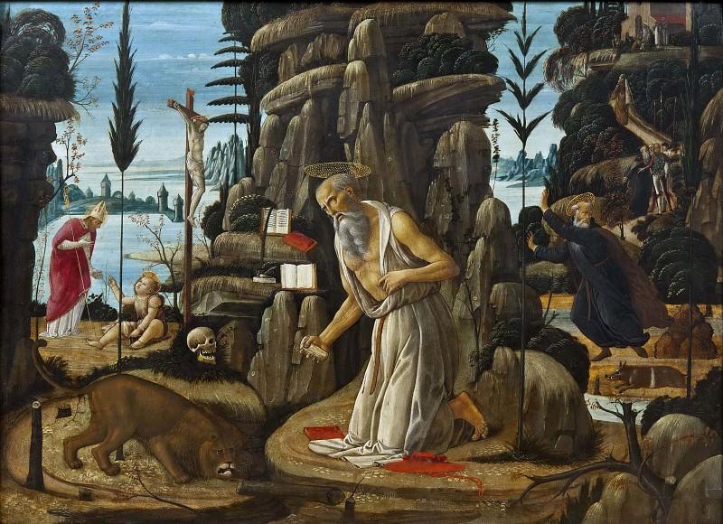 The Penitent St Jerome. Jacopo del Sellaio