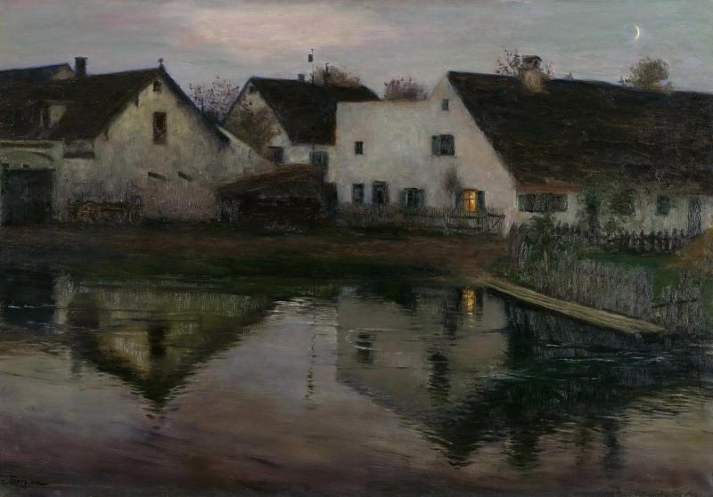 Evening in the Village. Franz Skarbina