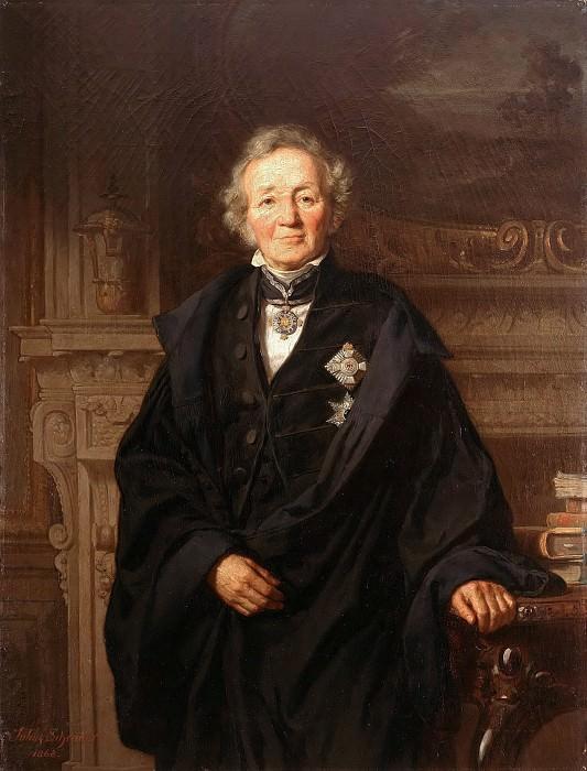 Portrait of the Historian Leopold von Ranke. Julius Schrader