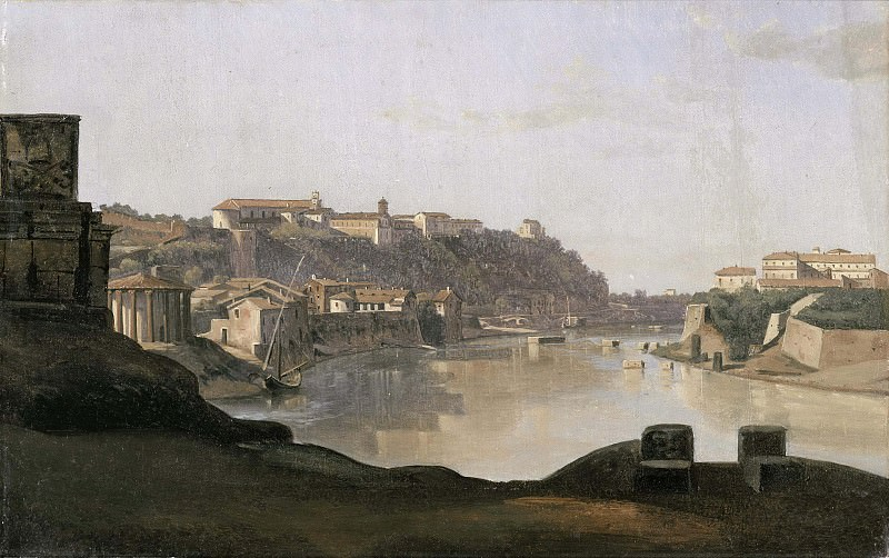View over the Tiber to the Aventine, Rome. Gustaf Söderberg