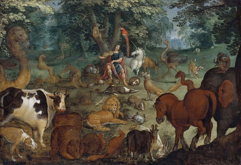 Orpheus Charming the Beasts. Roelandt Jacobsz Savery (Manner of)