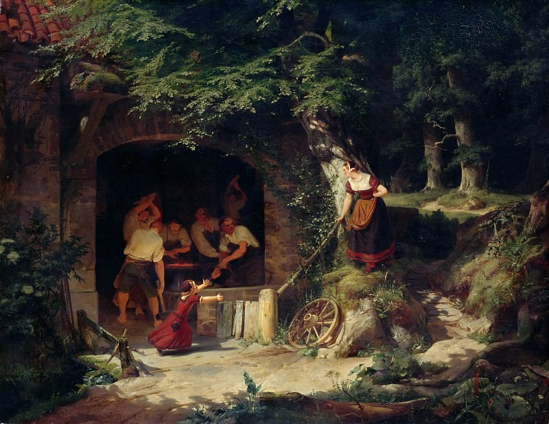 Forge in the Forest. Adolf Schrodter