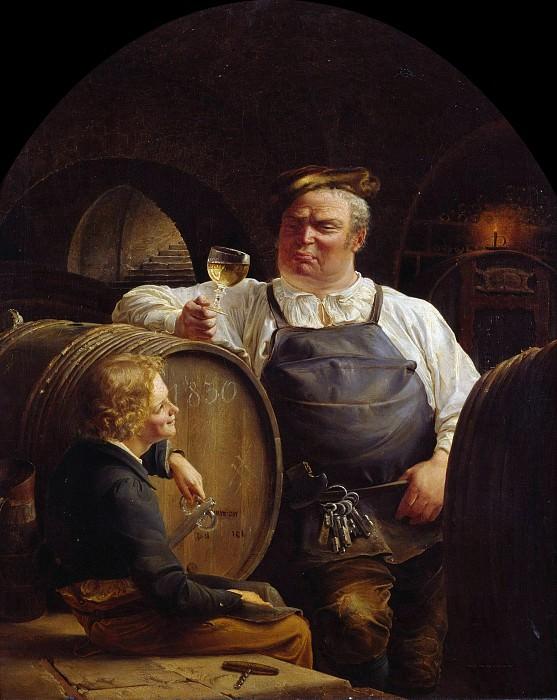 Проба рейнского вина. Адольф Шрёдтер