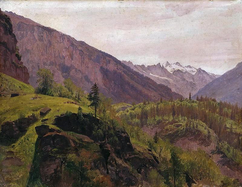 Mountain landscape. Johann Wilhelm Schirmer