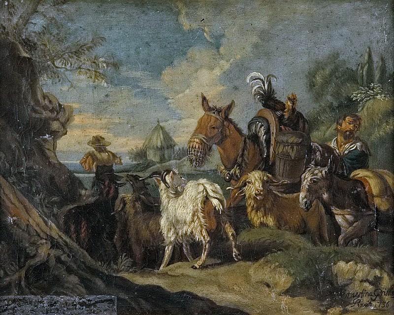Italian livestock farming. Philipp Peter Roos (After)