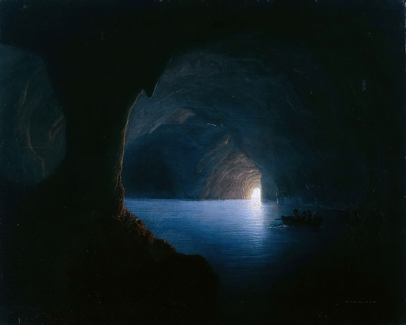 The Blue Grotto of Capri. Carl Friedrich Seiffert