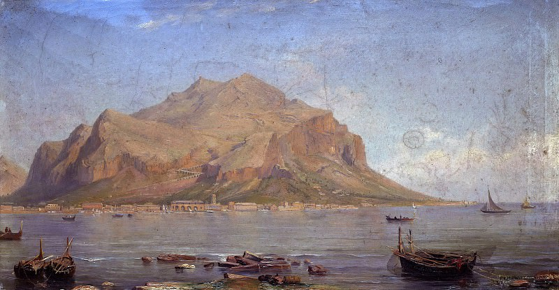 Monte Pellegrini at Palermo. Carl Friedrich Seiffert