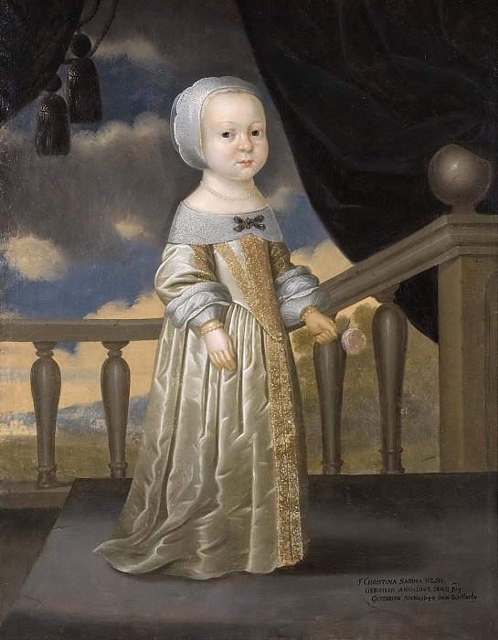 Kristina Sabina (1643-1644), Princess of Holstein-Gottorp. Julius Strachen (Attributed)