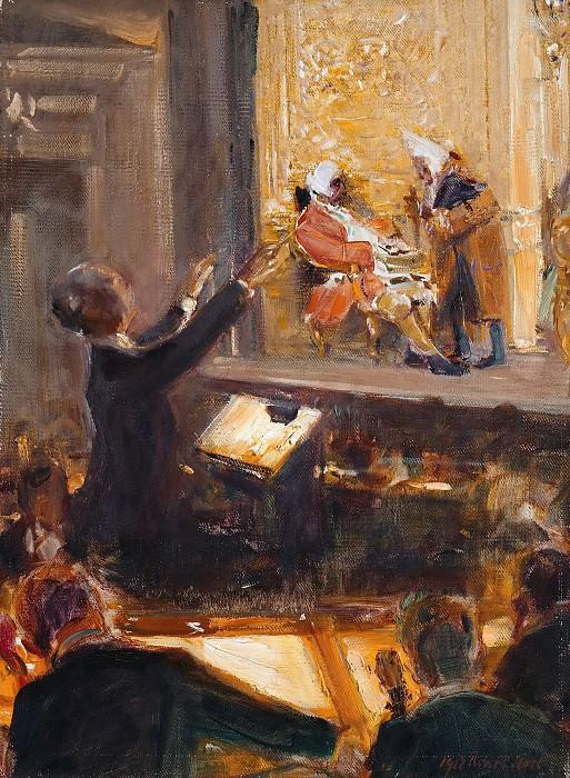 Эрнст фон Шух дирижирует на представлении «Кавалера розы» Рихарда Штрауса. Роберт Херман Штерл