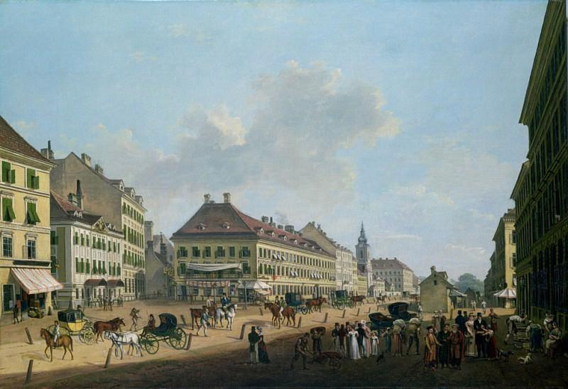 Vienna, the promenade. Franz Scheyerer