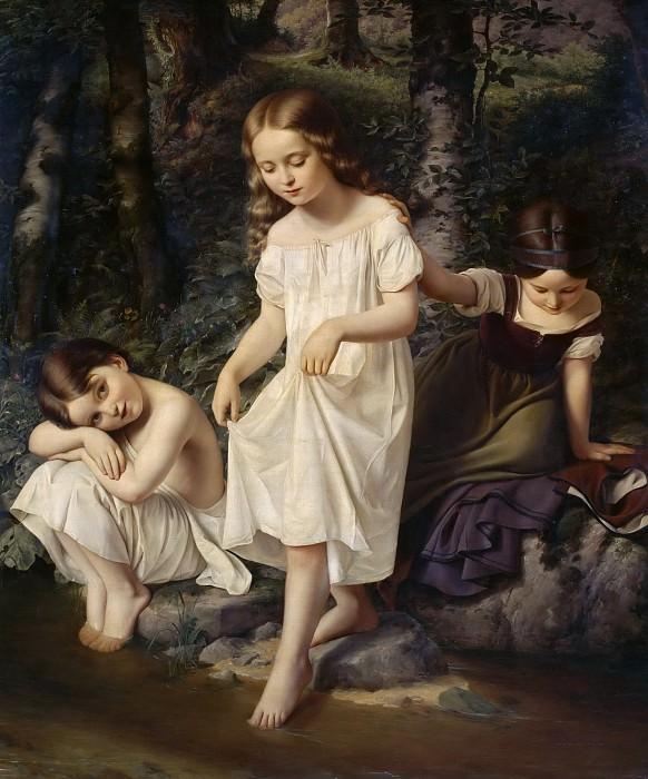 Купающиеся дети. Эдуард Штайнбрюк