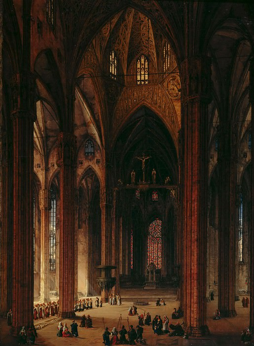In the Cathedral of Milan. Johann Karl Schultz