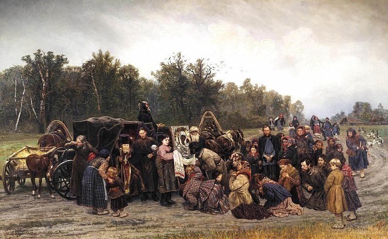 Meeting icons. Konstantin Savitsky