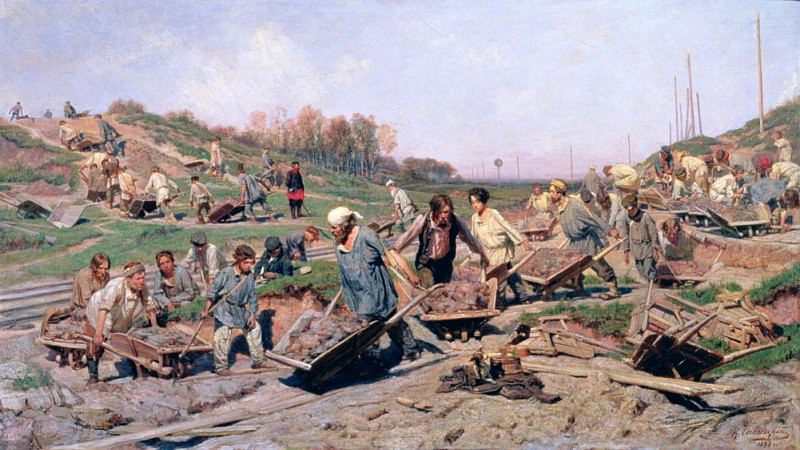 Repair Works on the Railway Line. Konstantin Savitsky