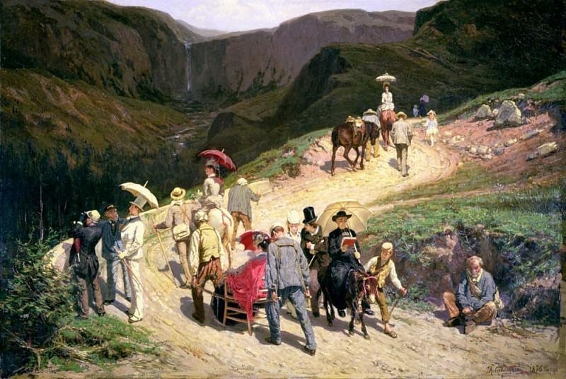 Travellers in Auvergne. Konstantin Savitsky