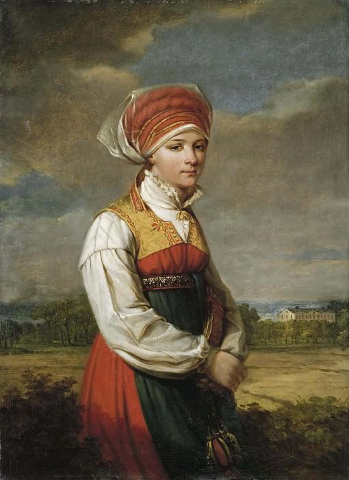 Girl from Vingåker. Johan Gustaf Sandberg