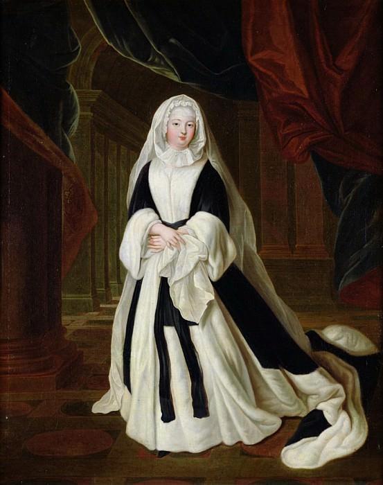 Portrait of Louis-Francoise de Bourbon (1673-1743), Mademoiselle de Nantes in Mourning Clothes. Louis de Silvestre