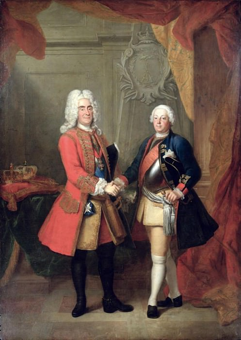 Augustus II (1670-1733), Elector of Saxony and King of Poland with King Friedrich Wilhelm I. Louis de Silvestre