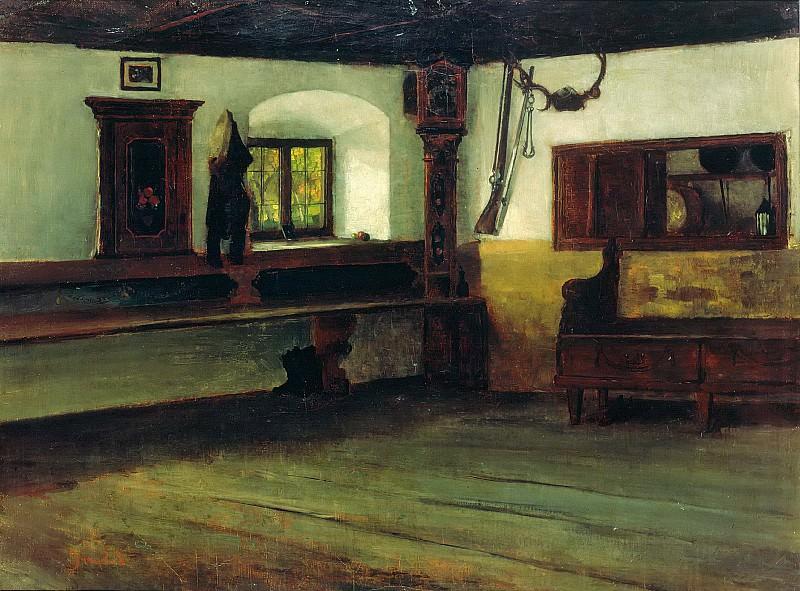 Interior of a Farmhouse. Johann Sperl