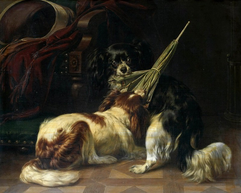 Playing dogs. Carl Steffeck