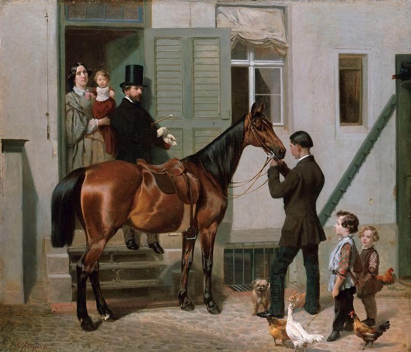 Ride of the artist. Carl Steffeck