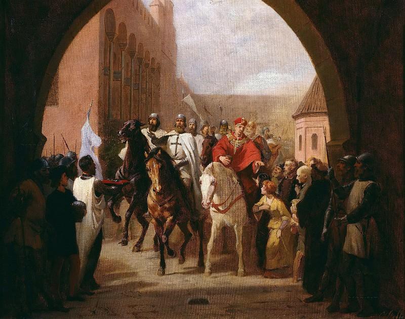 Въезд крестоносцев в Мариенбург. Карл Штеффек
