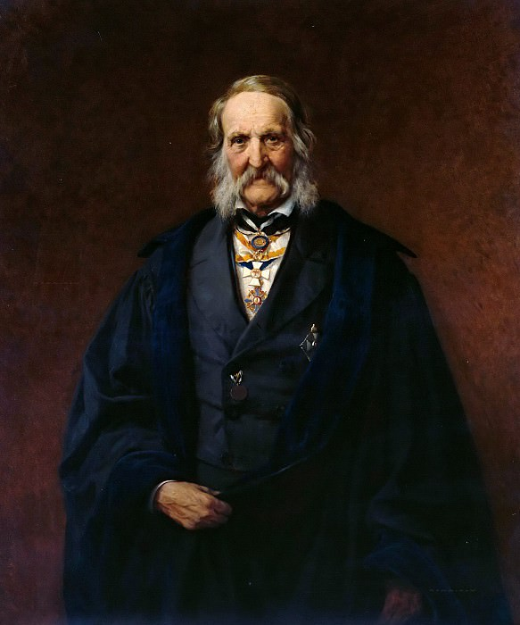 Portrait of the physicist Franz Neumann. Carl Steffeck