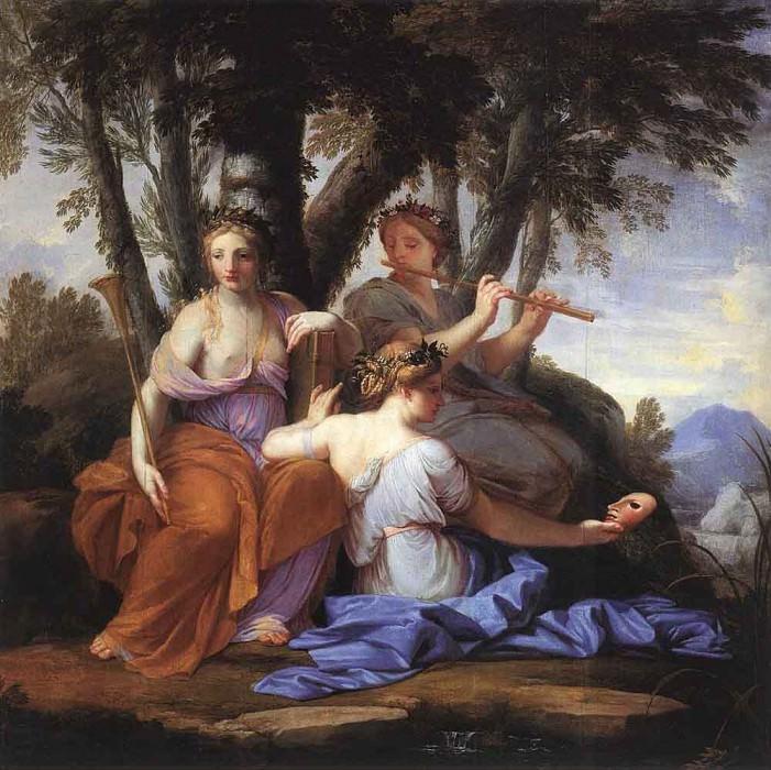 LE SUEUR Eustache The Muses Clio Euterpe And Thalia. Eustache Le Sueur