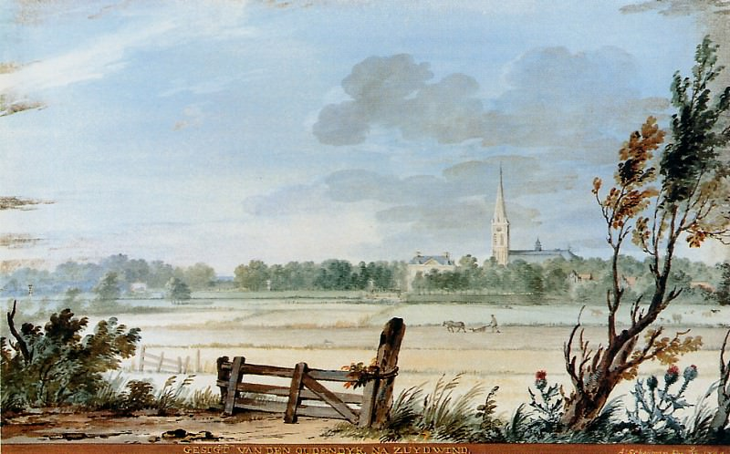 Schouman Aert View of Oudendyk at Zuydwind Sun. Aert Schouman