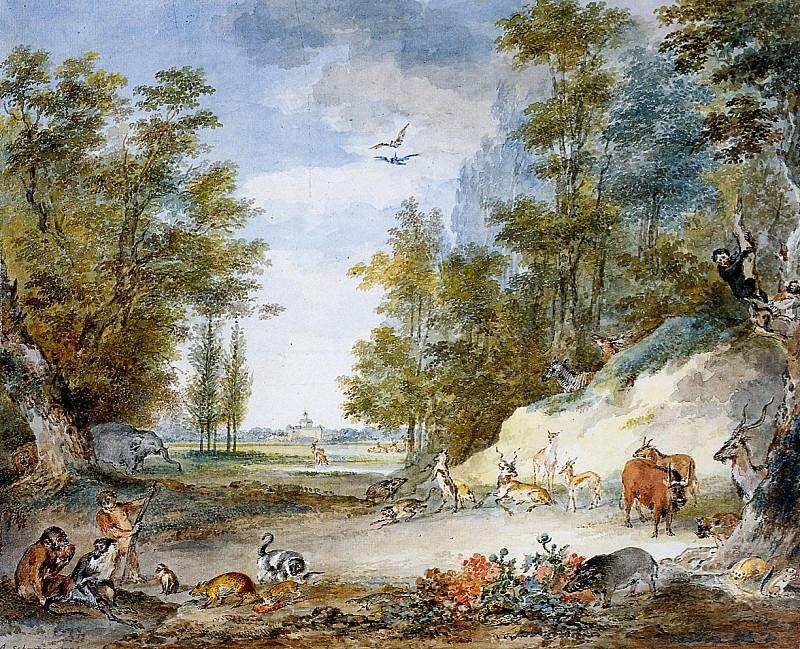 Schouman Aert Animals at Kleine Loo Sun. Aert Schouman
