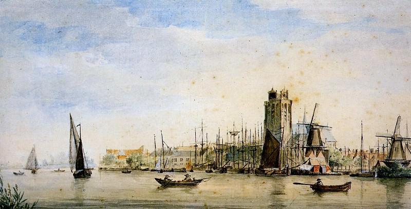 Schouman Aert View of Dordrecht Sun. Aert Schouman