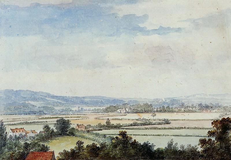 Schouman Aert Landscape near Windsor Sun. Aert Schouman