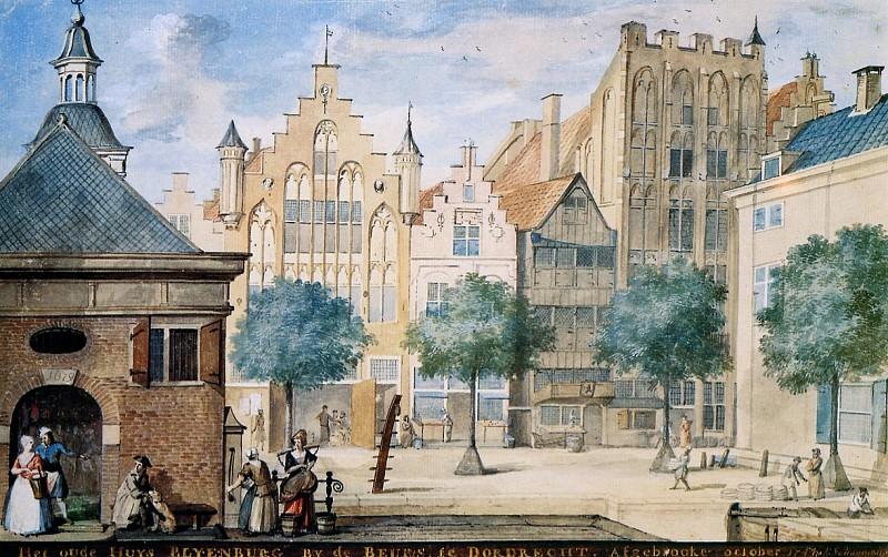 Schouman Aert Old Blyenburg House Dordrecht. Aert Schouman