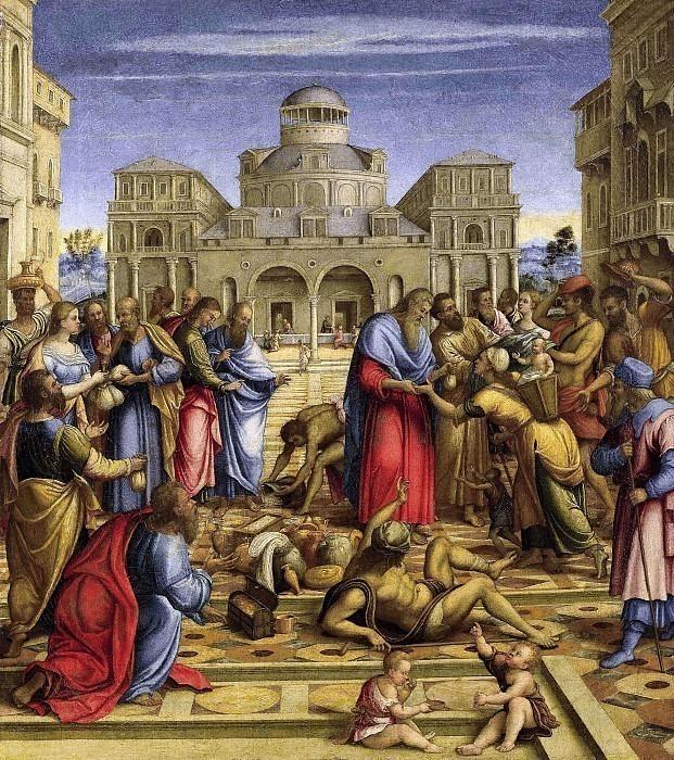 Святой Иоанн Милостивый на площади Алессандрии. Франческо да (Галицци) Сантакроче