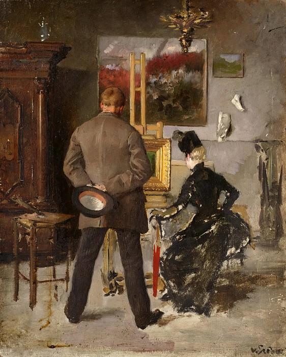 В мастерской художника. Лотар фон Зебах