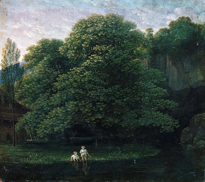 Пейзаж с юными купальщиками. Карл Фридрих Шинкель
