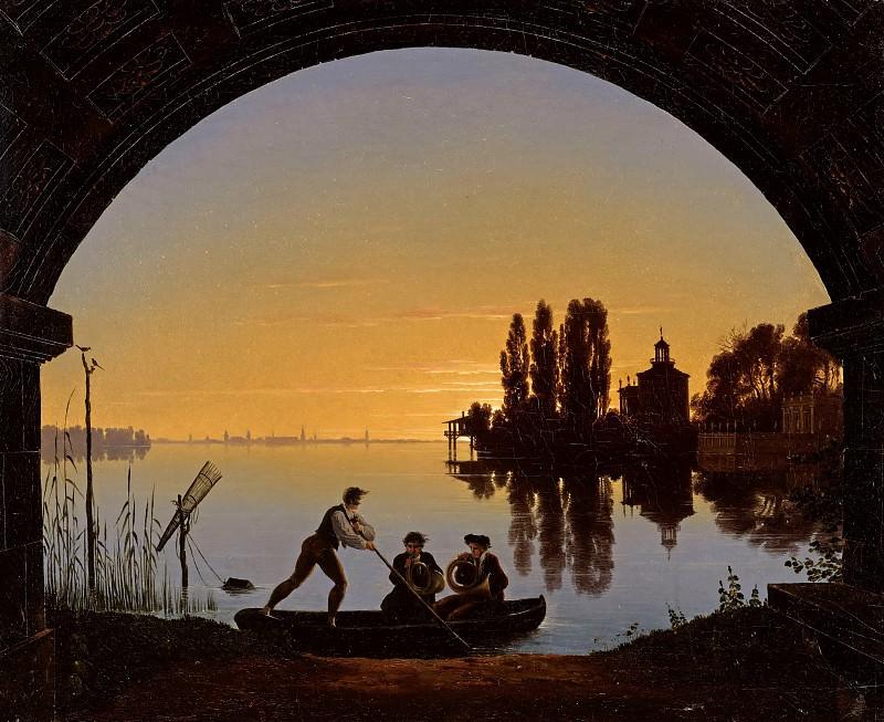 The river Spree in Stralau. Karl Friedrich Schinkel
