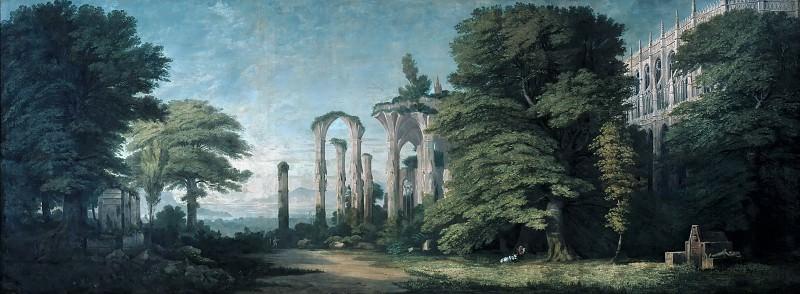 Руины готического монастыря среди деревьев. Карл Фридрих Шинкель