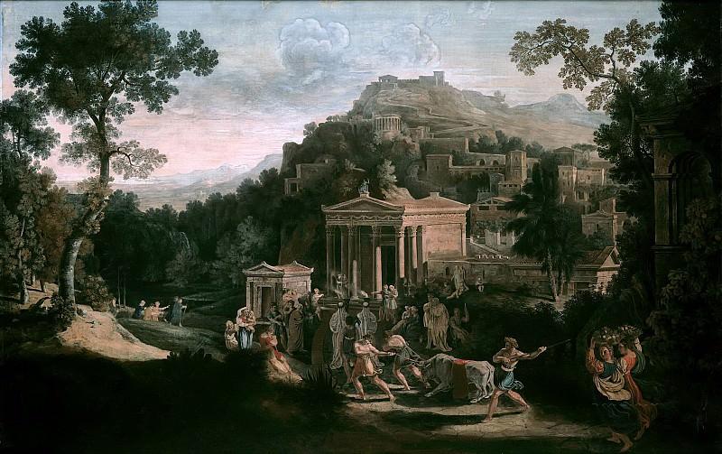 Античный город у подножья горы. Карл Фридрих Шинкель