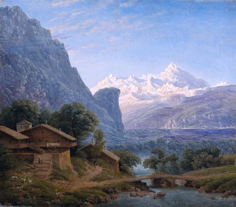 Вид на Монблан. Карл Фридрих Шинкель