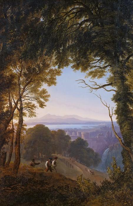 View from the Mountain over an Italian Town. Karl Friedrich Schinkel