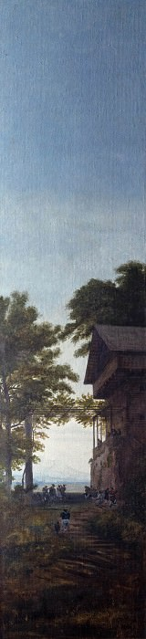 Dusk (Tyrolean inn). Karl Friedrich Schinkel