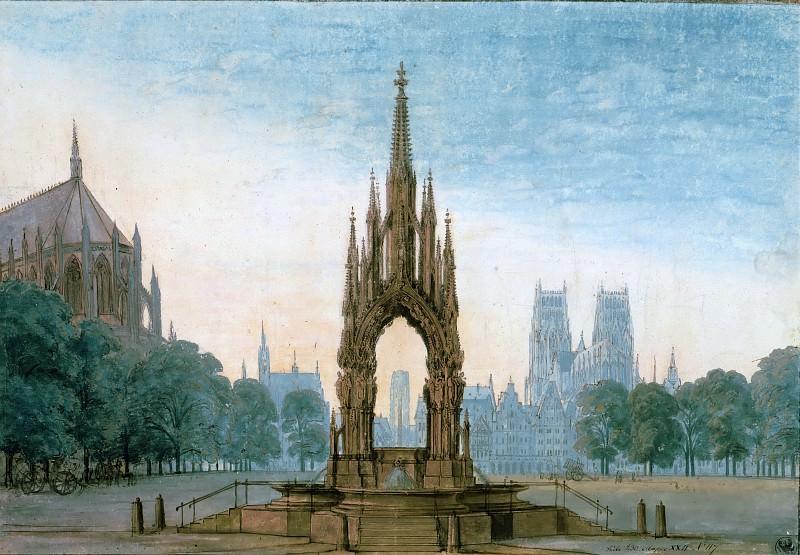 Рыночная площадь с фонтаном. Карл Фридрих Шинкель