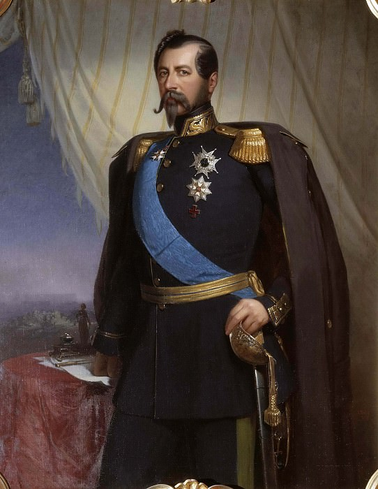 Oskar I (1799-1859), King of Sweden and Norway. Carl Staaff