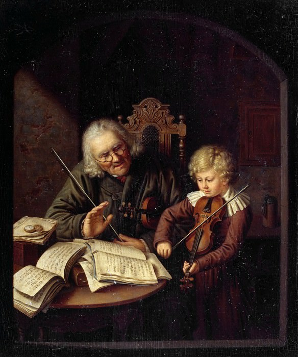 The Music Lesson. Constantin Schroeter