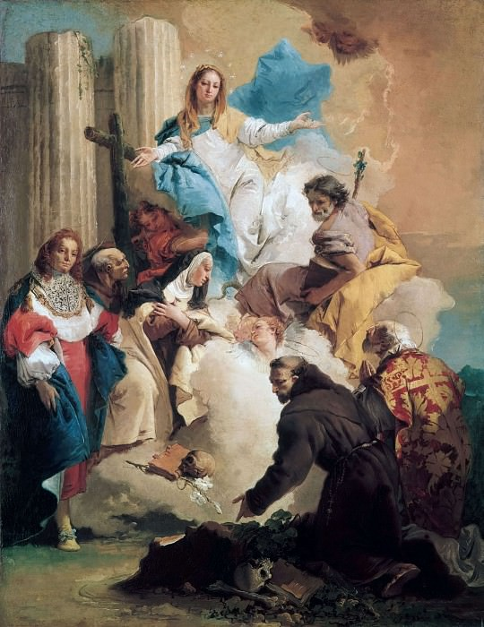 The Virgin with Six Saints. Giovanni Battista Tiepolo