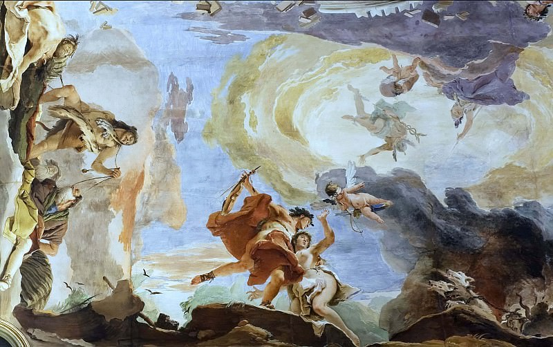 The force of eloquence, detail. Giovanni Battista Tiepolo