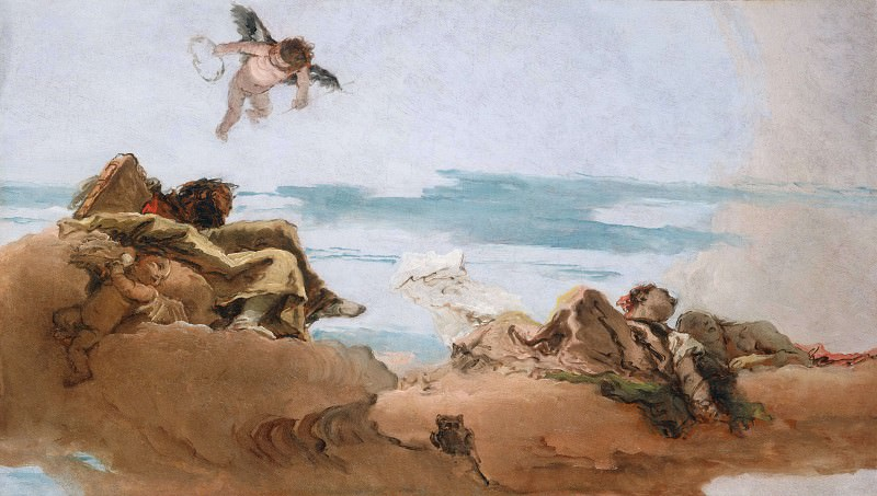 Study for a Ceiling with the Personification of Counsel. Giovanni Battista Tiepolo