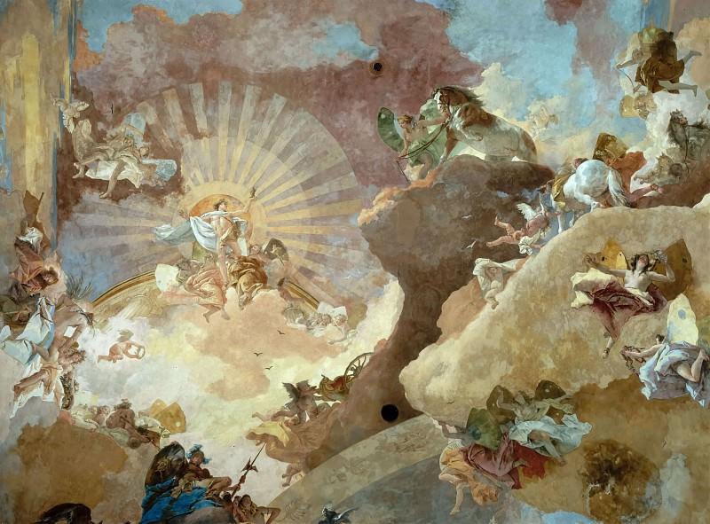 Apollo and the Continents, detail. Giovanni Battista Tiepolo