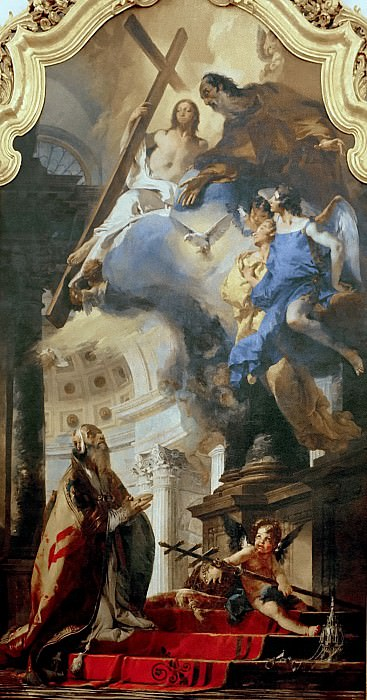 Pope St Clement Adoring the Trinity. Giovanni Battista Tiepolo